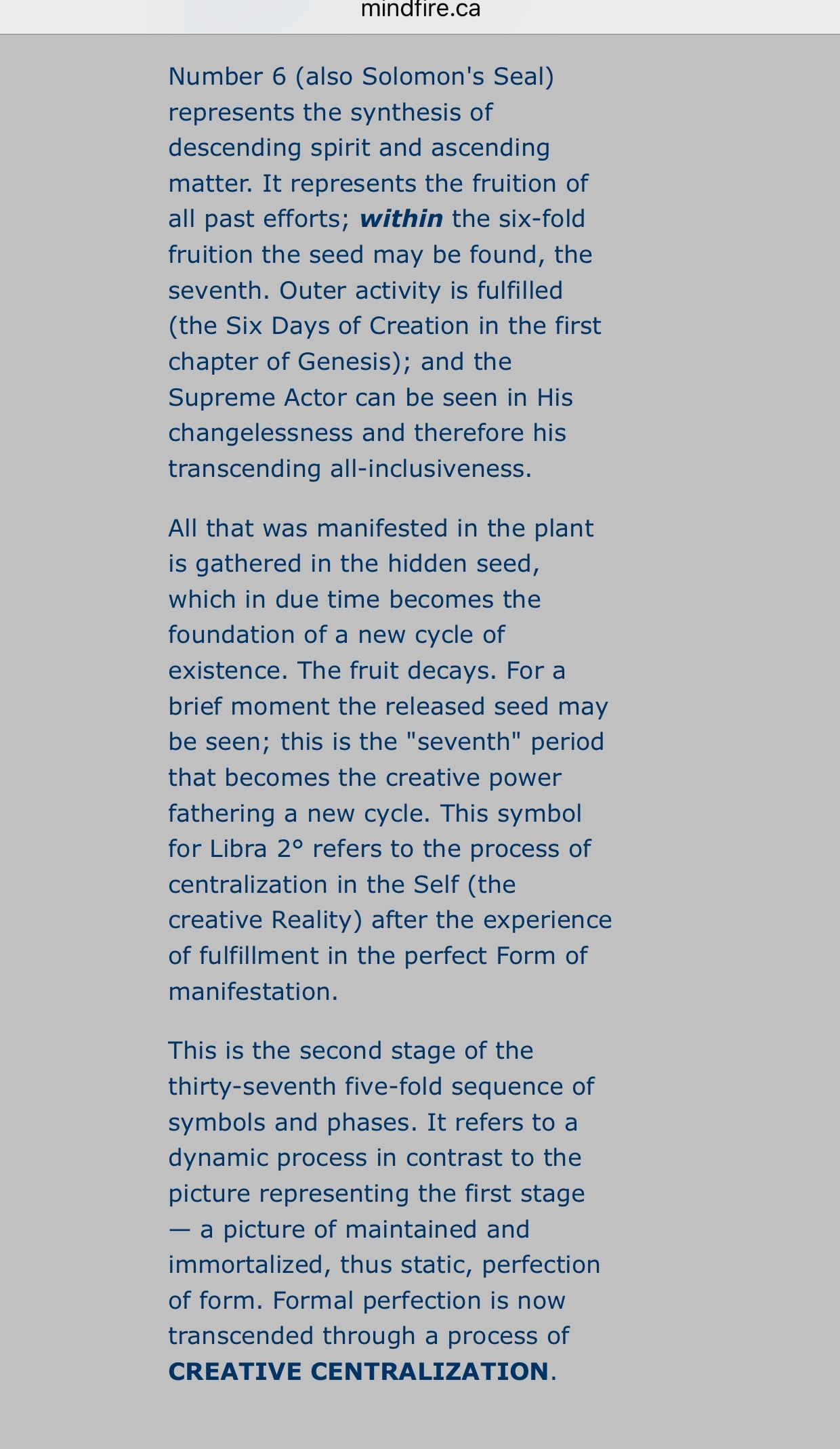 Part Of The Description For The Sabian Symbol Of My Functional Moon
