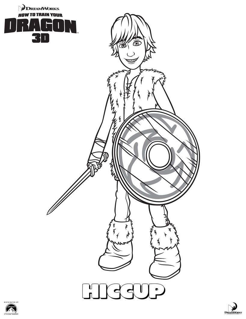 Dragon Ohnezahn Ausmalbilder : Train Your Dragon Color Hiccup Coloring Page Oliver S 3rd Bday