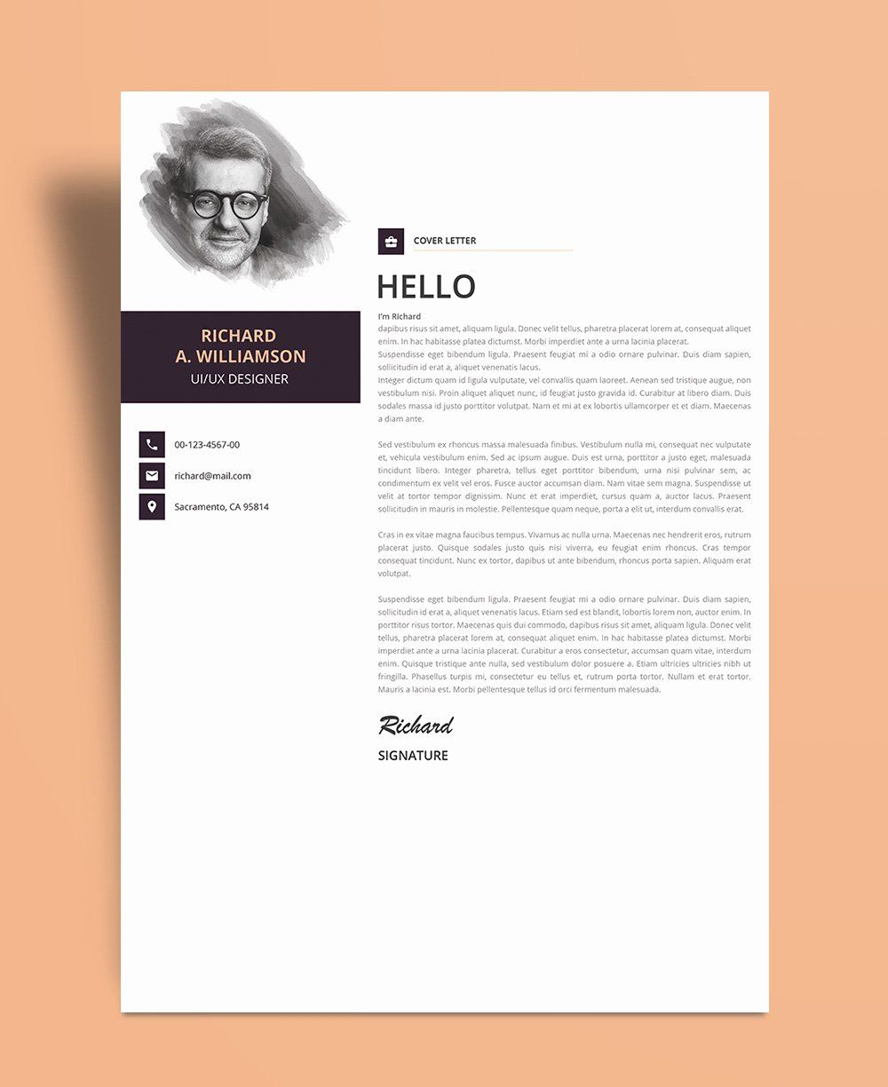Creative Cover Letter Template Beautiful Creative Cover