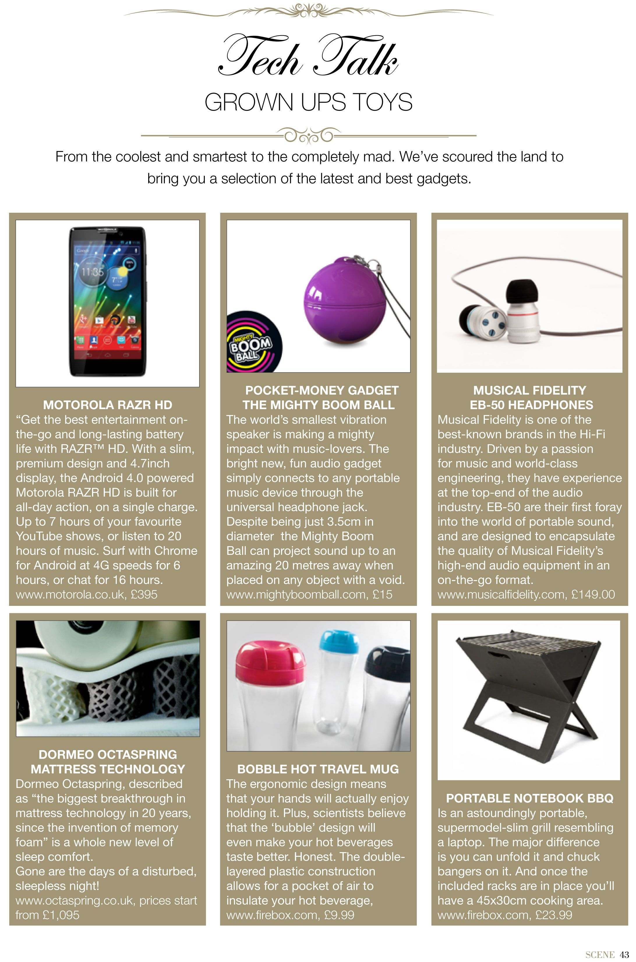 Octaspring was featured in the Tech Talk section of April's edition of Scene Magazine