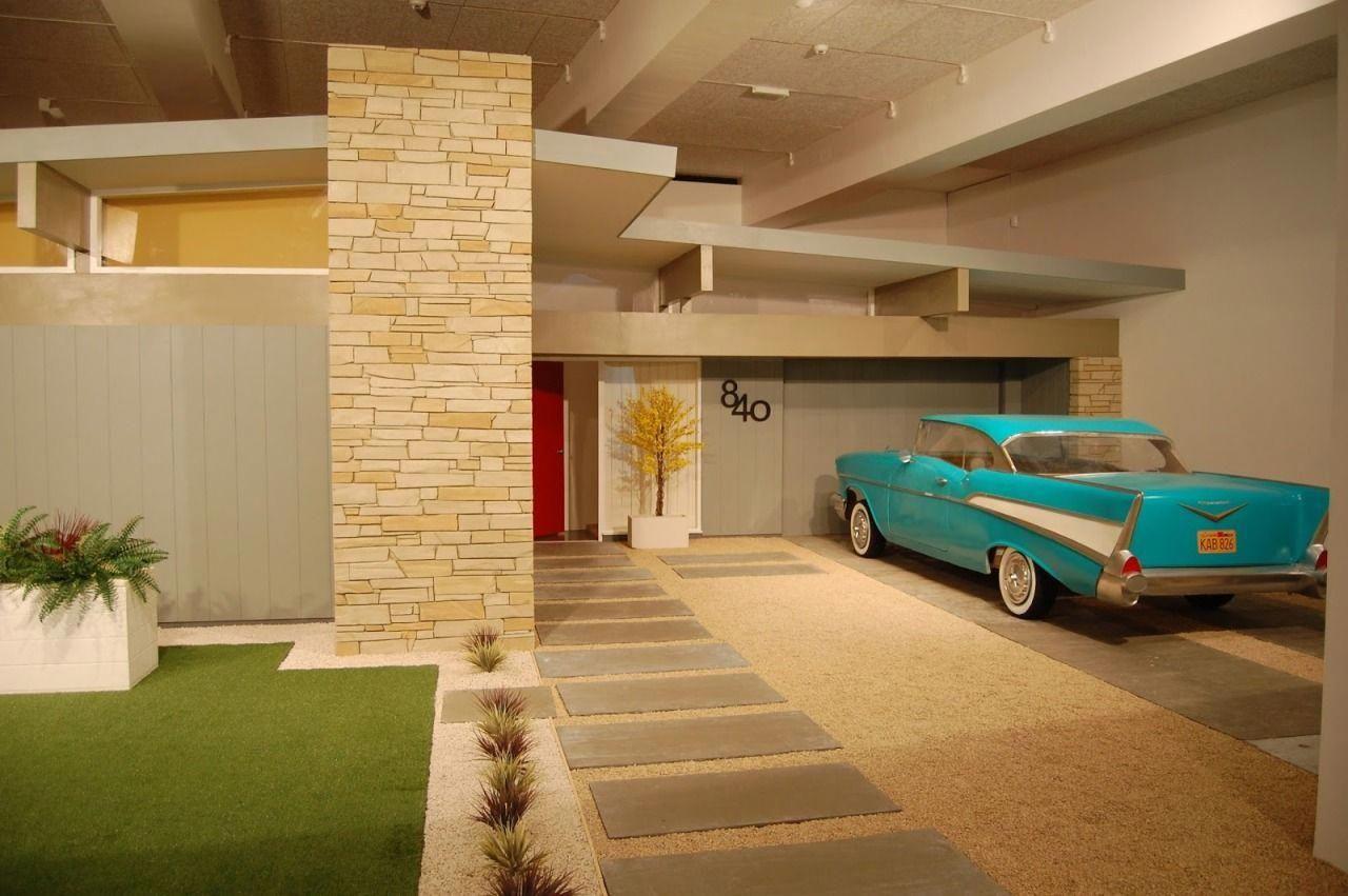 """American Dream"" (Full-sized replica of facade and garden ...  1950s Suburban Homes"