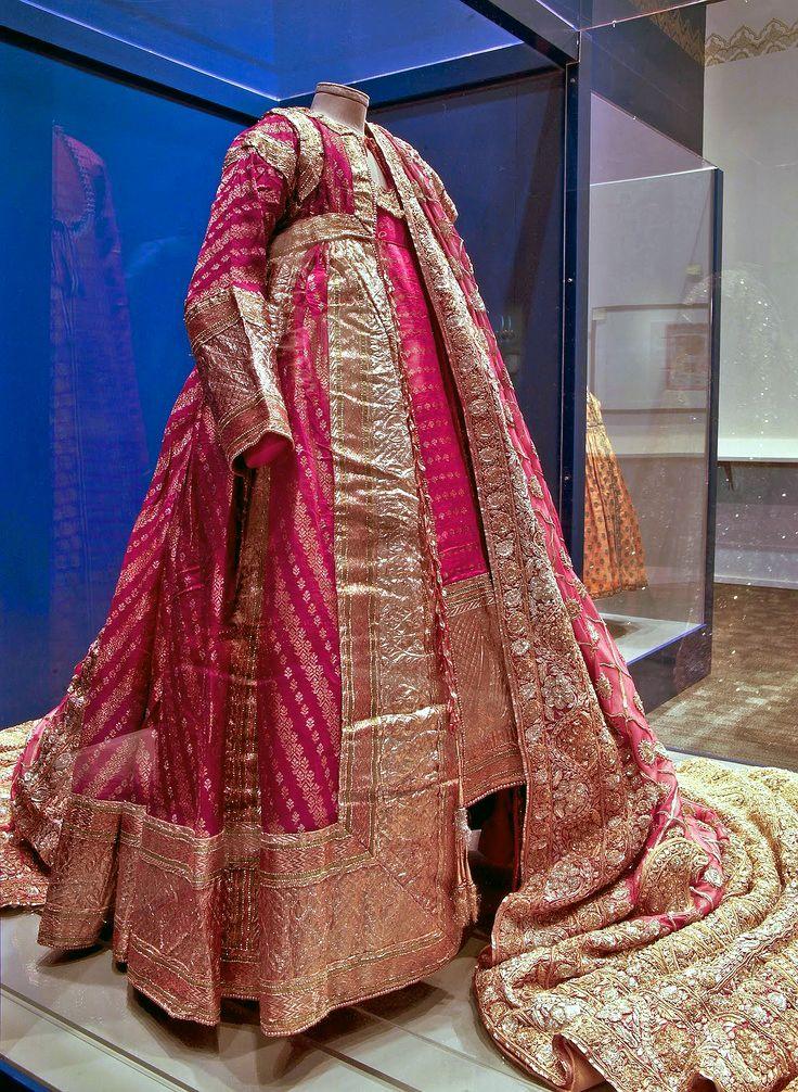 wedding dress of a mughal princess from north india circa