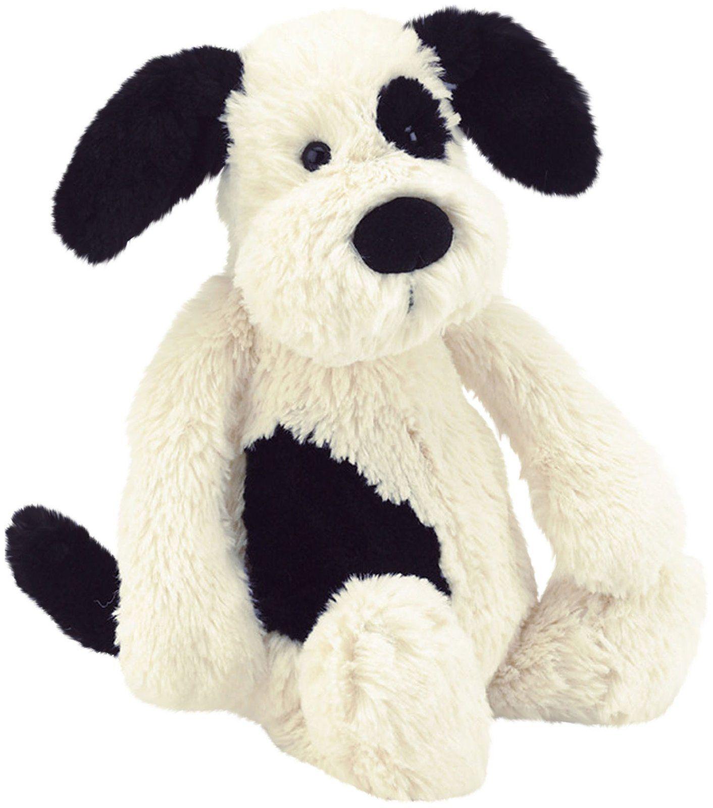 Jellycat Bashful Black Cream Puppy Large 14 Puppy Soft Toy White Puppies Plush Stuffed Animals