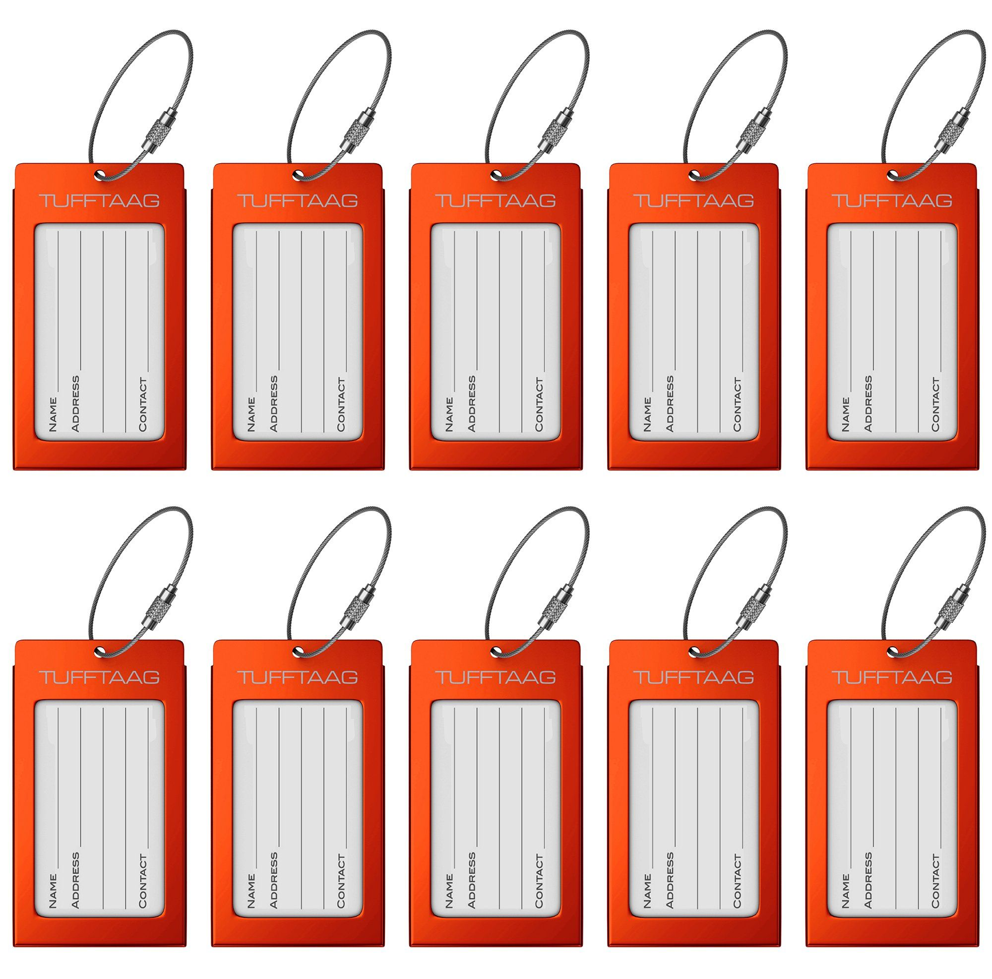 luggage tags business card holder tufftaag pair travel id bag tags