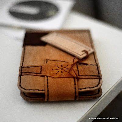 Handmade Leather Sleeve for Moleskine Pocket Watercolor Notebook