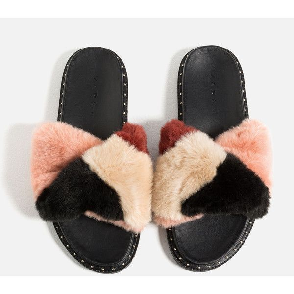 13b3ce541a5 FAUX FUR SLIDES - NEW IN-TRF