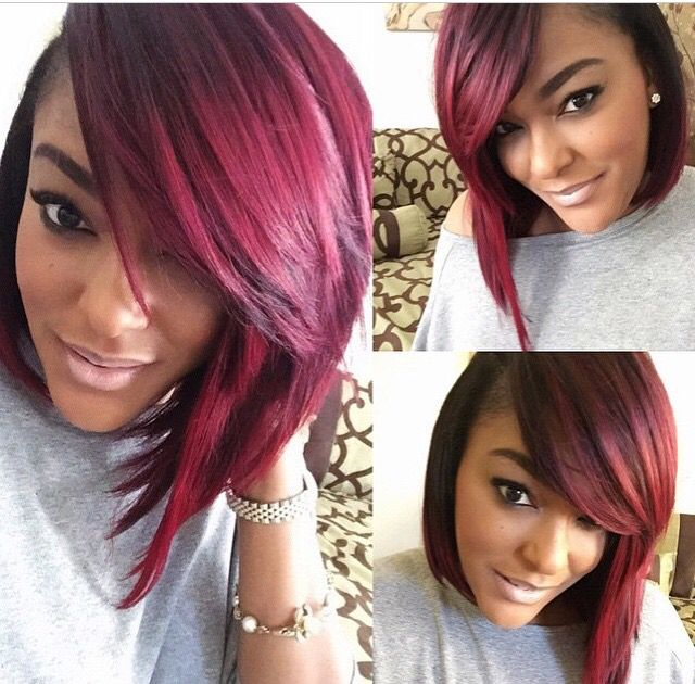 burgundy hair color styles burgundy bob bob season bobs hair 8951