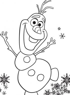 dibujos para colorear de olaf divertidos | Cumple Mica | Frozen
