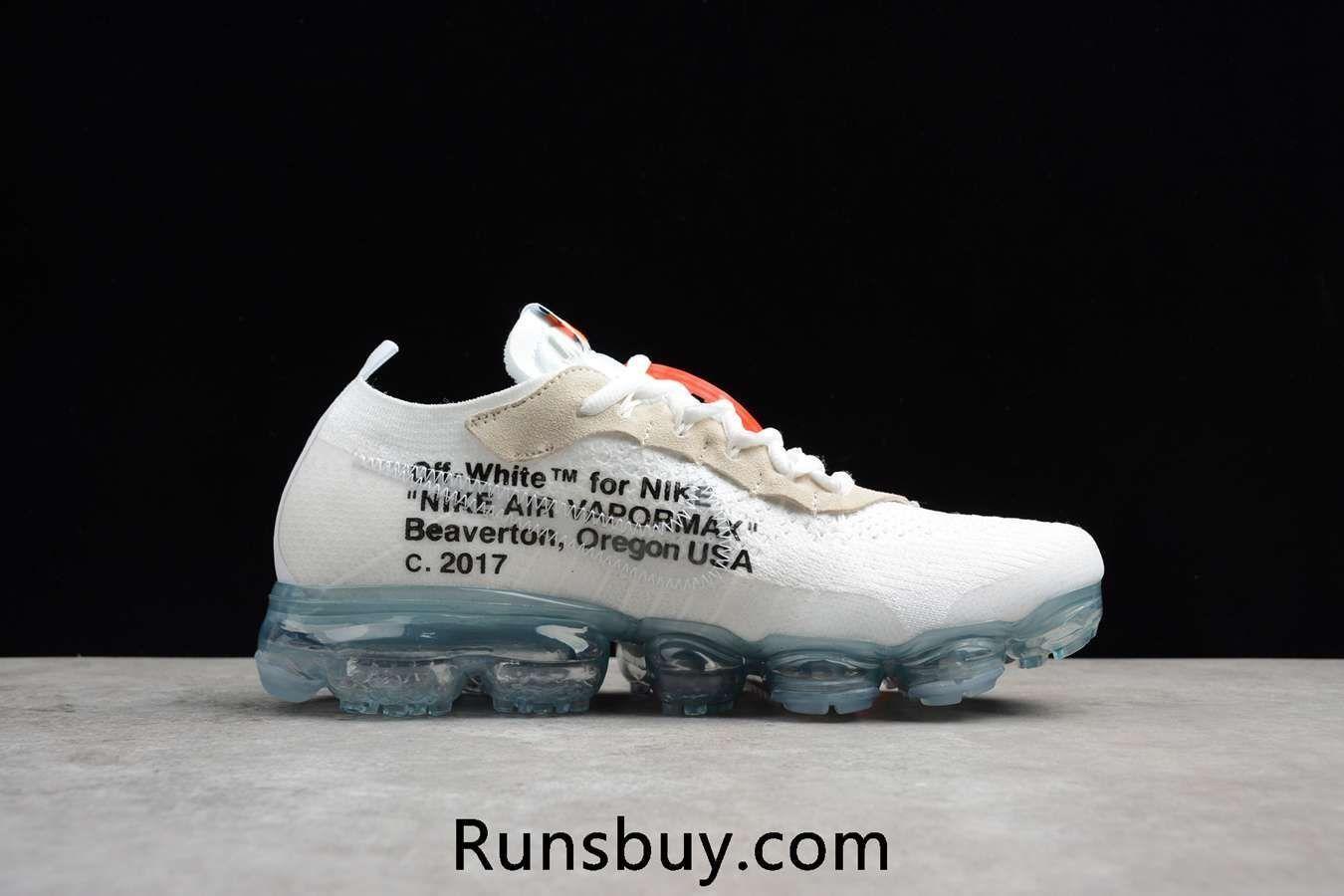9c0e6d69211 OFF WHITE x Nike Air VaporMax 2018 OW Flyknit White Women Men Running Shoes  Nike