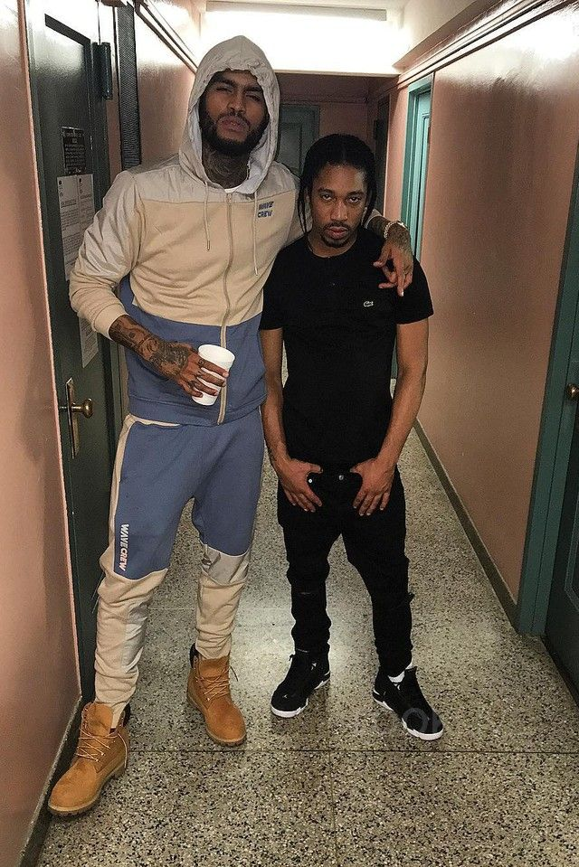 Dave East Chills With Friend On Dave East Dave East