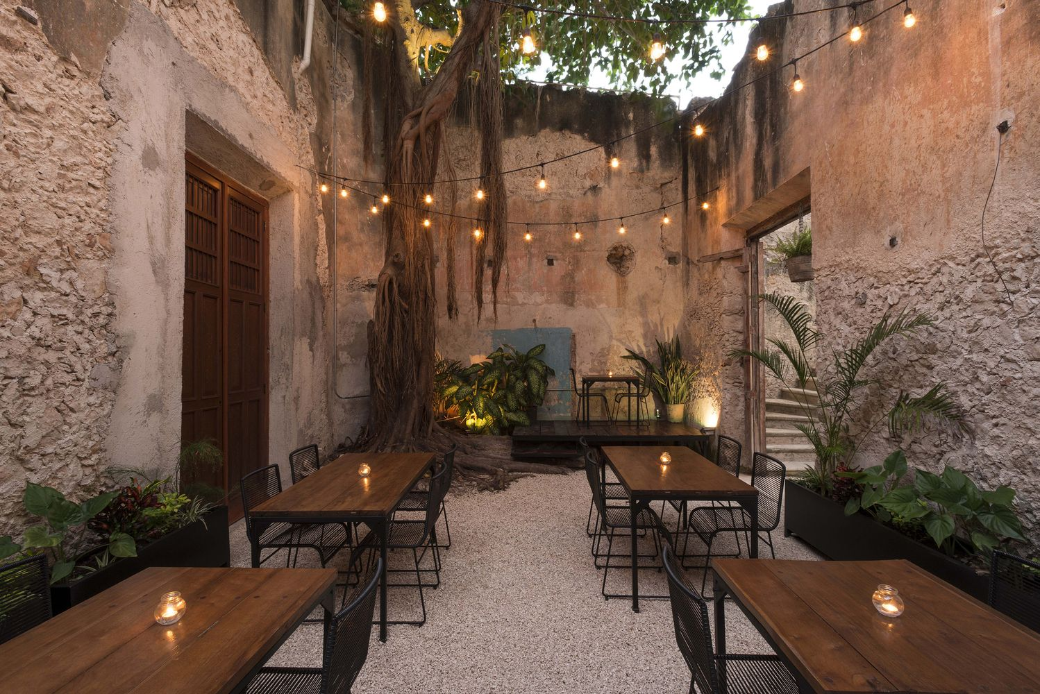 Garden Makeover Ruins Of A Colonial House Become A Garden Bar In Mexico Showit Blog Colonial House Exterior Design Garden Bar