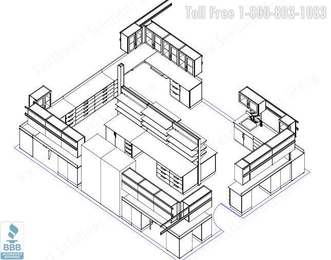 Microbiology Laboratory 3d View Floor Plan 48052 Micro 645 507 Floor Plans Pinterest