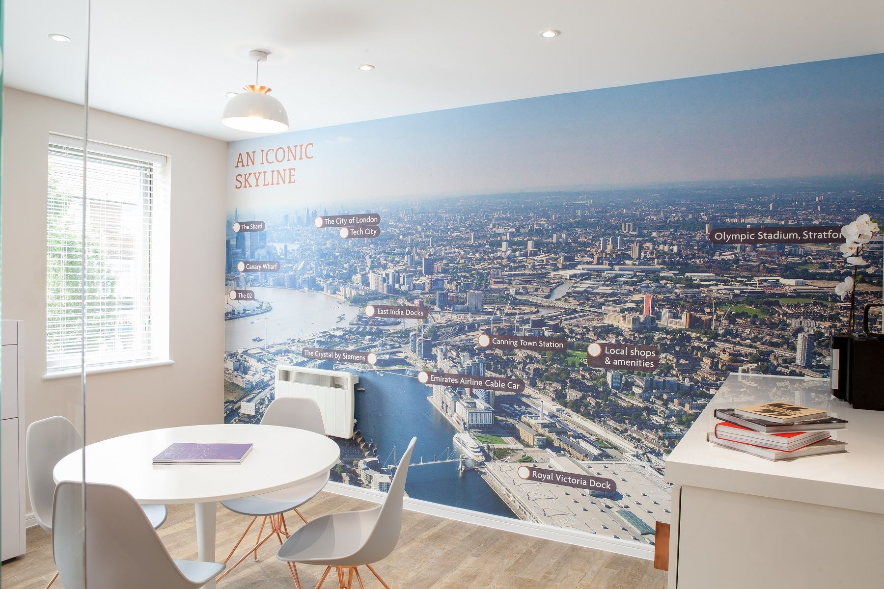 East City Point showing its connectivity | Map | Wallcovering | Interior Design | Marketing Suite | Shinysurfaces | Copper |