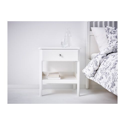 Tyssedal Chevet Blanc 20 1 8x15 3 4 51x40 Cm Mesita De Noche Ikea Dormitorios Tropicales Muebles Con Cajas
