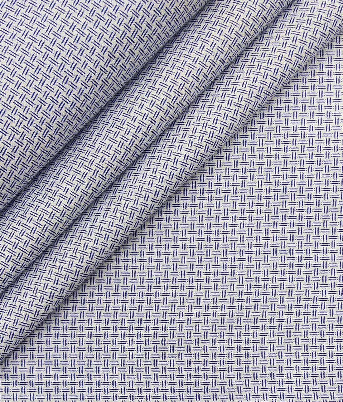 e9e6e3c85 Combo of Raymond Dark Blue Broad Checks Trouser Fabric With Exquisite White  Cotton Blend Structured Shirt Fabric (Unstitched)
