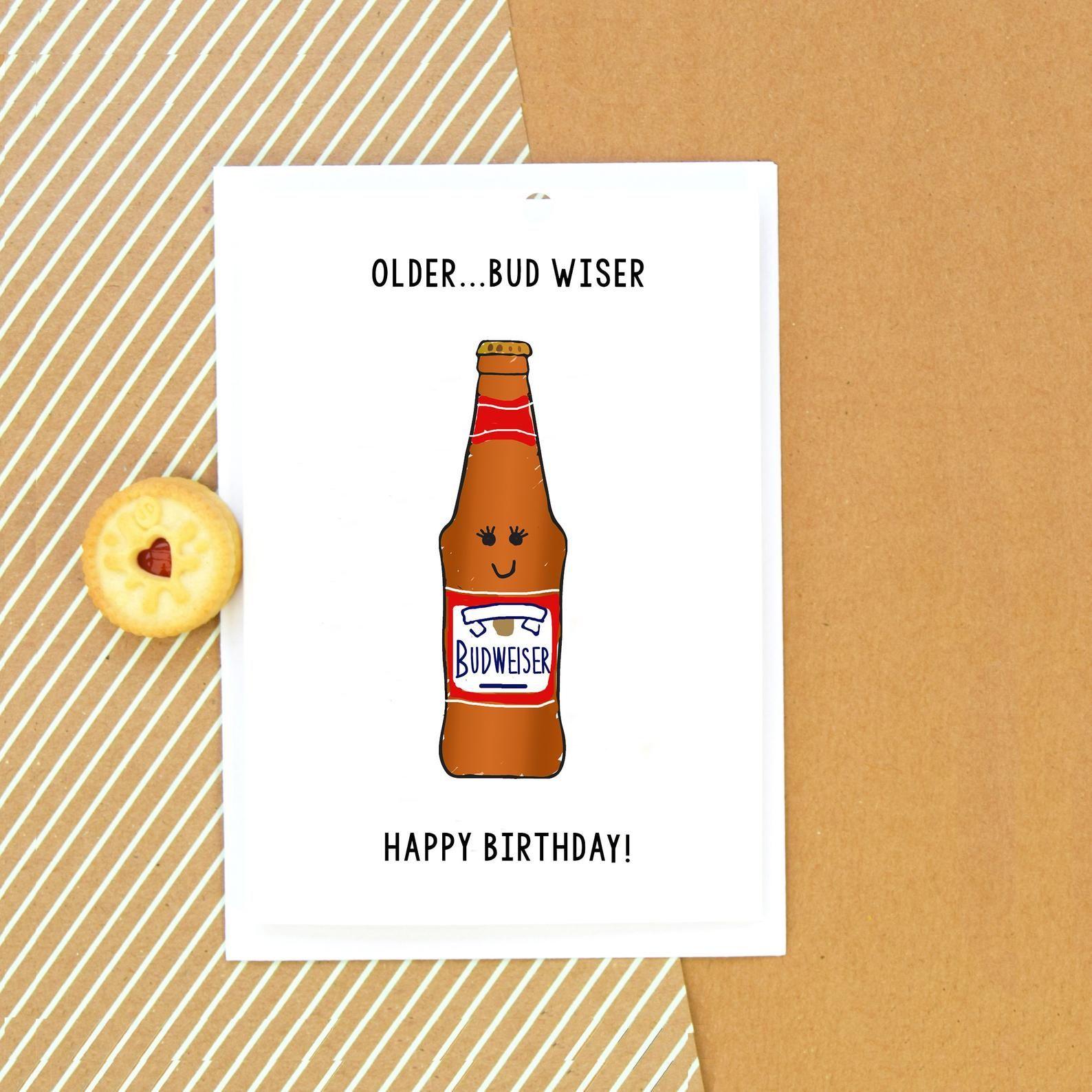 Funny Beer Birthday Card Birthday Card Card For Him