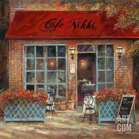 Café Nikki Art Print by Ruane Manning at Art.com