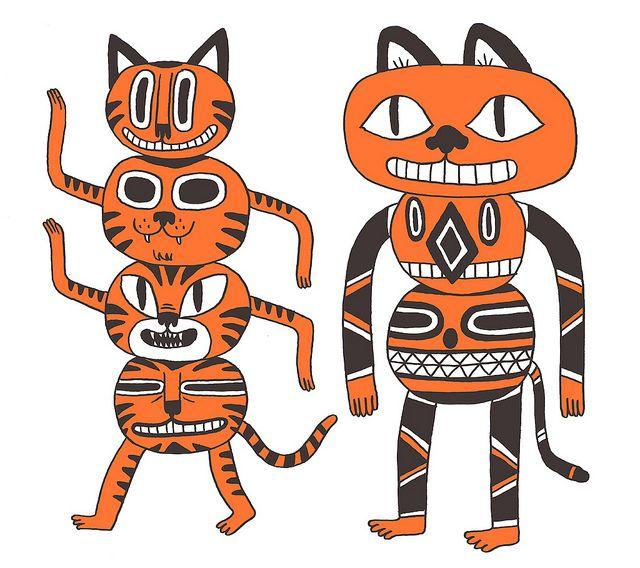Totem Cats Cats Cats Comic Art Art