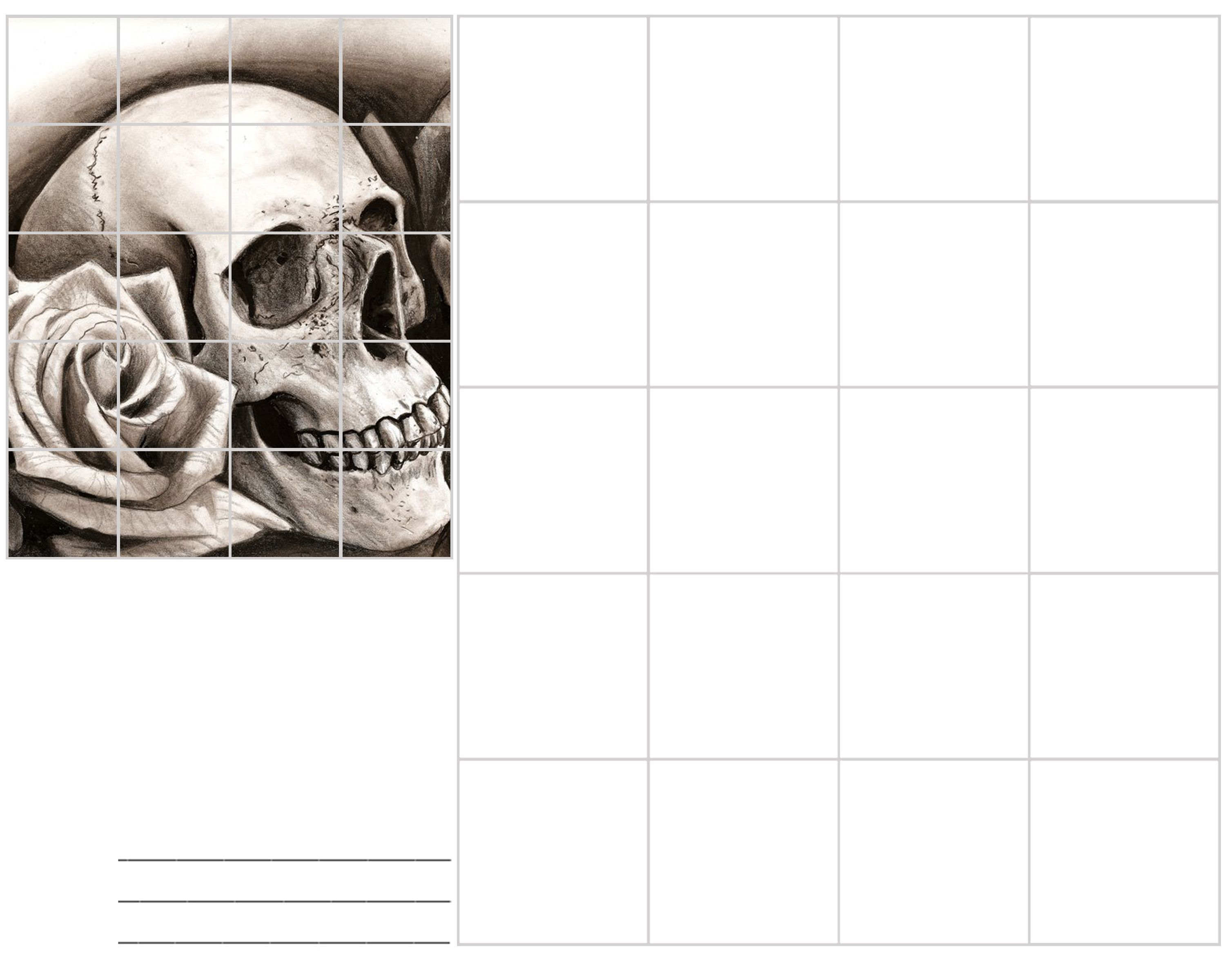 Image Result For Skull Grid Drawing In