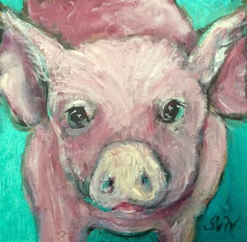 """Little pig painting"" - Sonia von Walter"