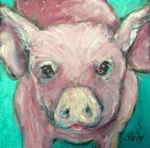 """""""Little pig painting"""" - Sonia von Walter"""