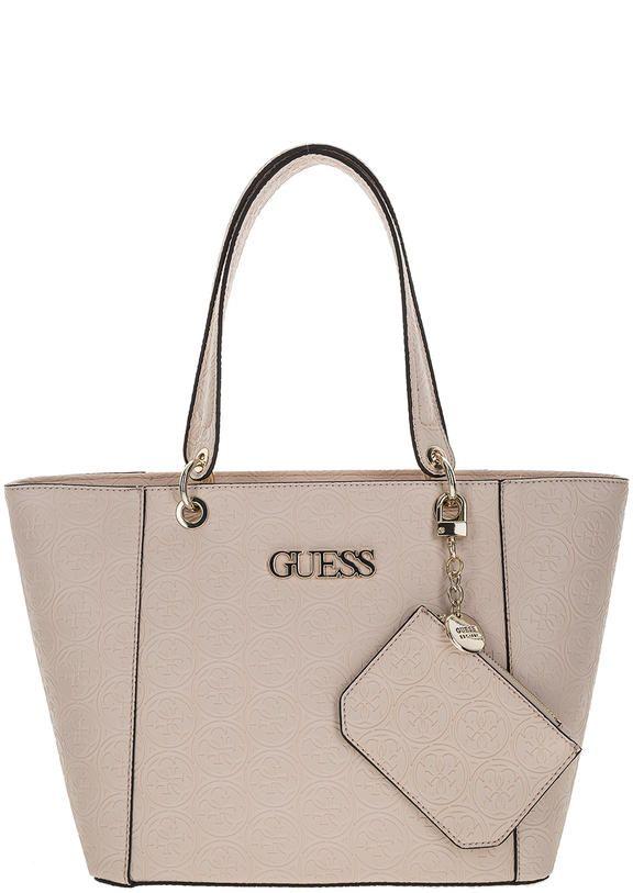 Вместительная сумка с монограммой бренда HWSH66 91230 BLS