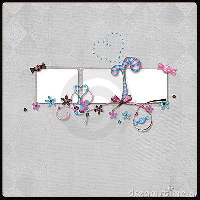 Scrapbook layout by Rayisa Nalivayko, via Dreamstime