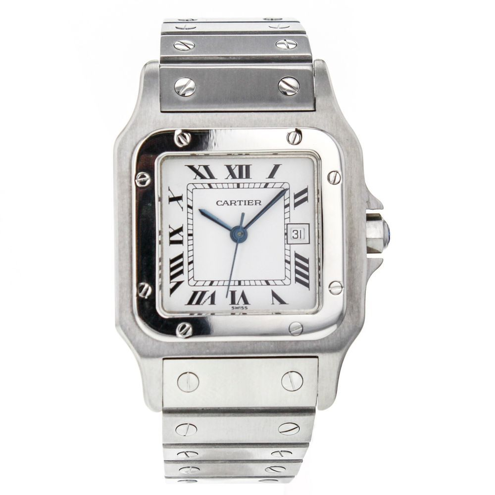 Men's Cartier Santos Galbee XL W20098D6 Stainless Steel Automatic Wrist Watch #Cartier #LuxuryDressStyles