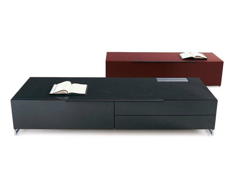 Low tv cabinet with drawers athos low tv cabinet b&b italia