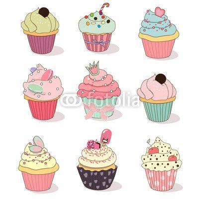 Cupcakes Animados Buscar Con Google Dolci Dipinti Pinterest