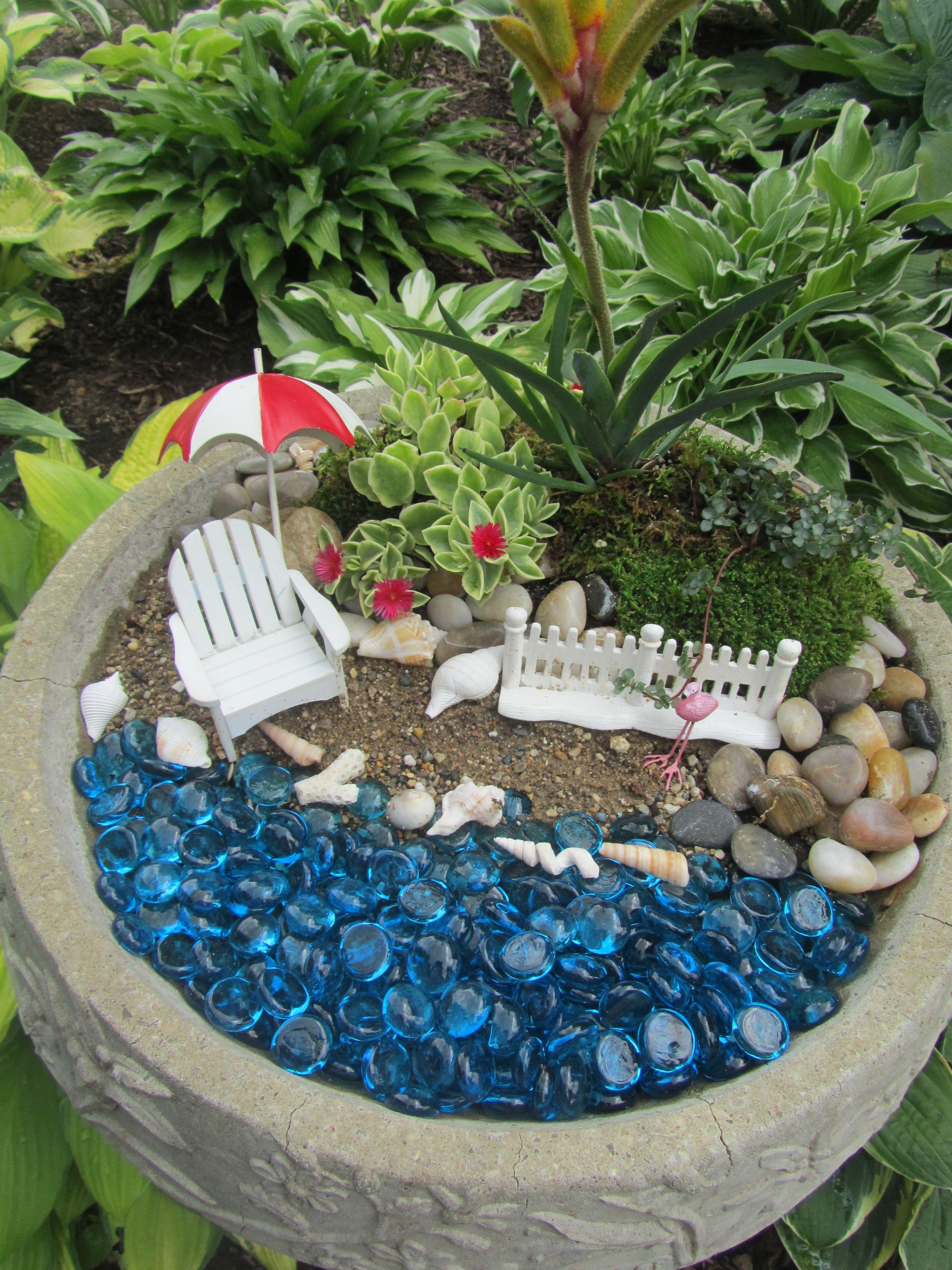 Beach Fairy Garden | fairies | Pinterest | Beach fairy garden, Fairy ...
