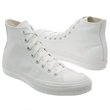 all white converse shoes