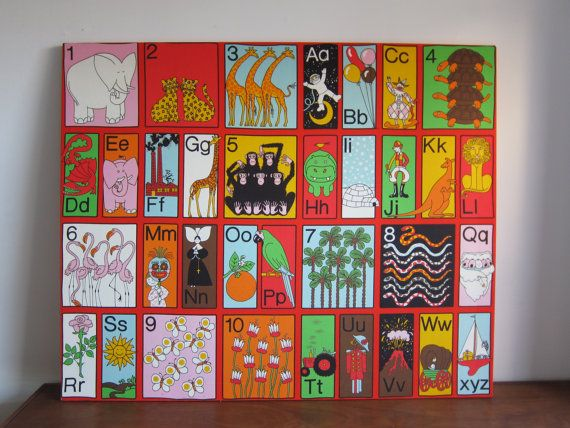 44 X 36 Alphabet Fabric Wall Hanging By Jan Pienkowski