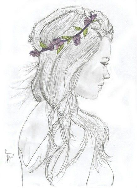 Flower Girl Drawing Tumblr Design Images Flower Crown Drawing Crown Drawing Easy Drawings