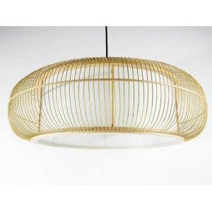 suspension japonaise en lattes de bambou et papier 179 00. Black Bedroom Furniture Sets. Home Design Ideas