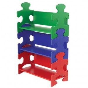 Estantería en forma de puzzle