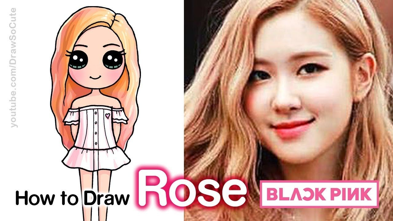 How To Draw Rose Blackpink Kpop Youtube Drawing