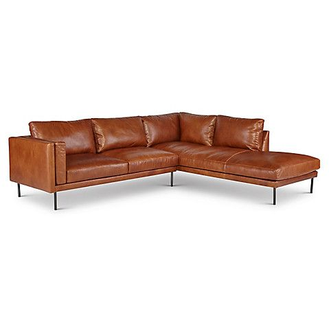 Aiden Sectional Brown Leather 6 895 00 Leather Sectional