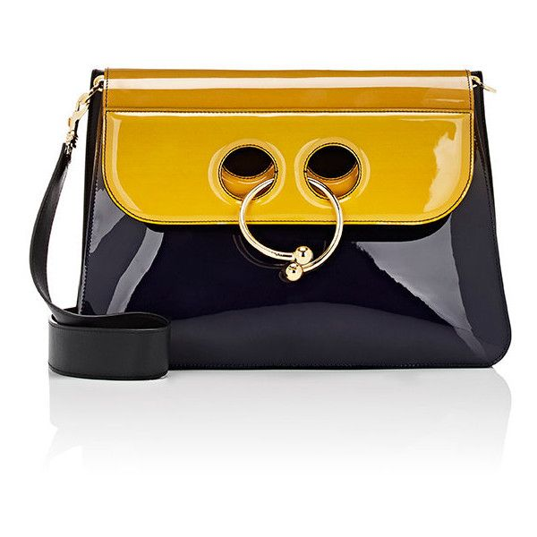 J.W.Anderson Women's Pierce Large Shoulder Bag (€1.265) ❤ liked on Polyvore featuring bags, handbags, shoulder bags, purses, navy, man bag, purse shoulder bag, navy shoulder bag, hand bags and man shoulder bag