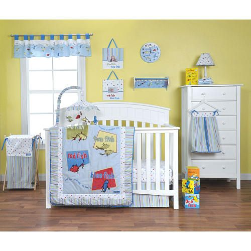 Dr Seuss One Fish, Two Fish 4 Piece Baby Crib Bedding Set With Bumper By  Trend Lab The Dr Seuss One Fish, Two Fish 4 Piece Baby Crib Bedding Set  Includes A