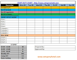 Image Result For Housekeeping Duty Roster Format Hotel Housekeeping Chart Duties