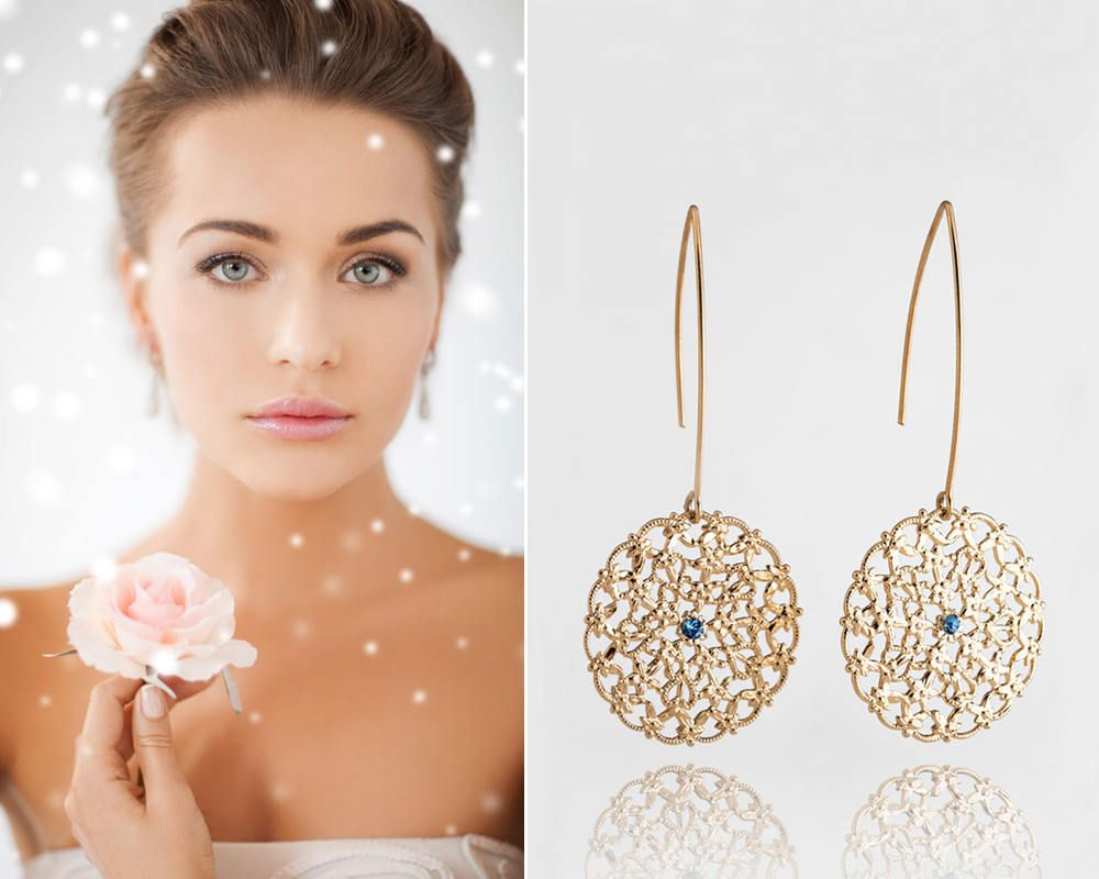 cm com aliexpress buy gold product wedding drop crystal from luxurious hollow bride jewellery earrings vintage store tear mujer statement brincos bridal