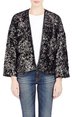 Derek Lam 10 Crosby Faux-Fur Cardigan Jacket at Barneys Warehouse