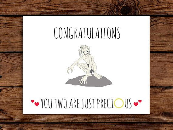 Lord Of The Rings Wedding Card Printable By Somebodylovedshop 2 00 Wedding Cards Birthday Card Printable Geeky Wedding