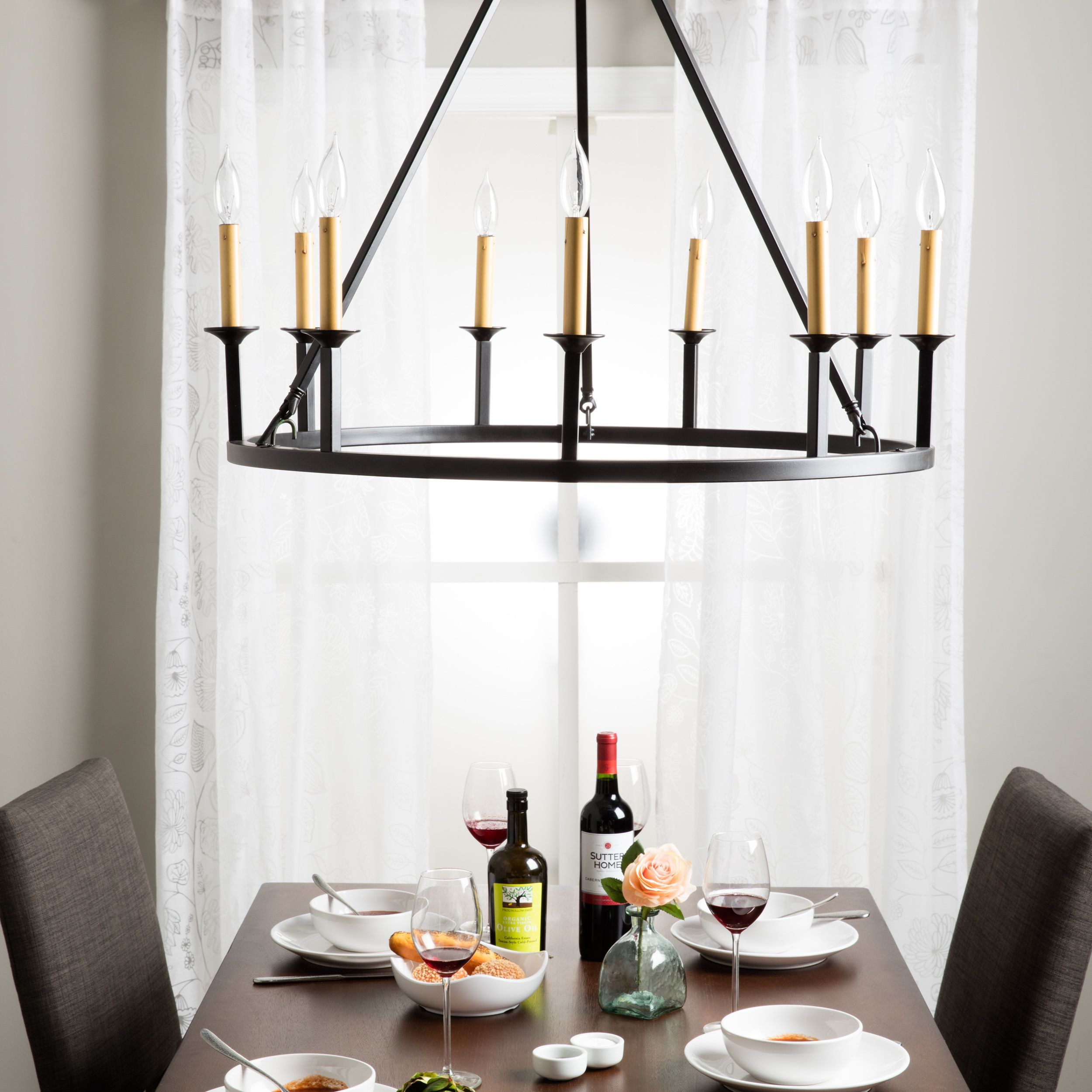 Old World Dining Room Chandeliers: Old World 9-light Chandelier, Black (Metal) In 2018