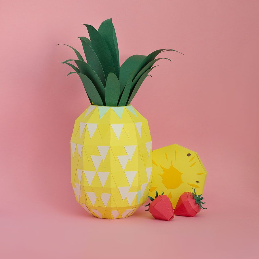 papercraft fruits, drinks, graphic design, tropical fruits, paper handmade, frutas de papel para marca de drinks