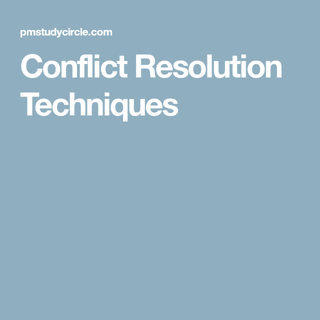 Conflict Resolution, Study Notes, Exam Study