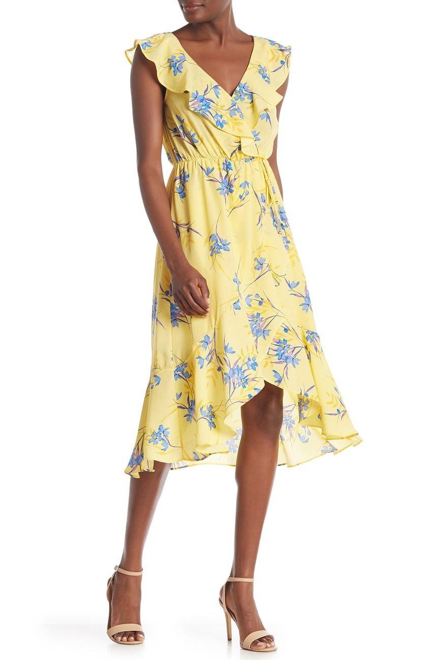 Socialite Ruffled Faux Wrap High Low Midi Dress Nordstrom Rack High Low Midi Dress Dresses Nordstrom Dresses [ 1300 x 868 Pixel ]