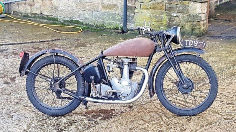 Vintage 1939 Bsa 250cc Project B21 De Luxe Silver Star Basket Case Pre War 1939 Bsa 250 Project If I Am Readin 250cc Silver Stars Vintage