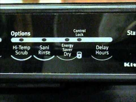 KitchenAid Dishwasher Reboot   Just Fixed Mine   Keep For Reference   Not  In The Manual